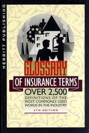 Merritt glossary of insurance terms