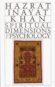 Cover of: Spiritual Dimensions of Psychology (Collected Works of Hazrat Inayat Khan)
