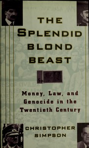 Cover of: The Splendid Blonde Beast | Christopher Simpson