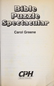 Cover of: Bible puzzle spectacular | Carol Greene