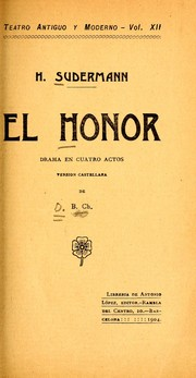 Cover of: El honor