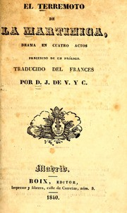 Cover of: El terremoto de la Martinica