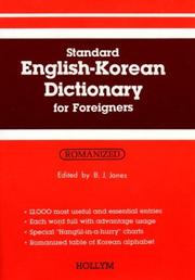 Cover of: Standard English-Korean Dictionary for Foreigners