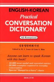 Cover of: English-Korean Practical Conversation Dictionary