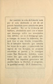 Cover of: La infancia y educación de Abraham Lincoln