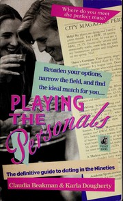 Cover of: Playing the personals | Claudia Beakman