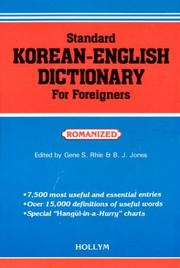 Cover of: Standard Korean-English Dictionary for Foreigners