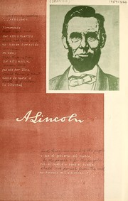 Cover of: A. Lincoln | United States. Information Service.