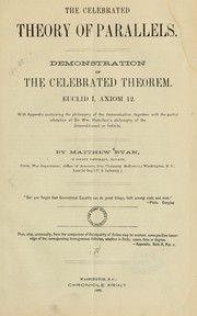 Cover of: The celebrated theory of parallels