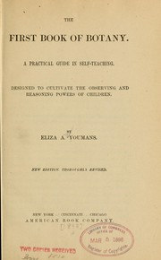 Cover of: The first book of botany
