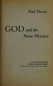 Cover of: God and the new physics | P. C. W. Davies