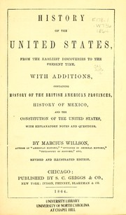 Cover of: History of the United States from the earliest discoveries to the present time