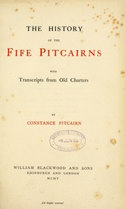 Cover of: The history of the Fife Pitcairns