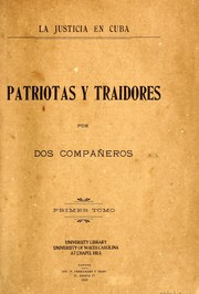 Cover of: Patriotas y traidores