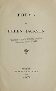 Cover of: Poems by Helen Jackson