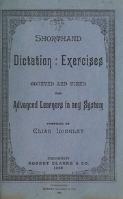 Cover of: Shorthand dictation exercises