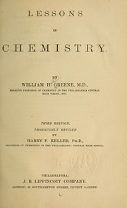 Cover of: Lessons in chemistry | William Houston Greene