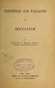 Cover of: Principles and fallacies of socialism