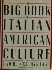 Cover of: The Big book of Italian-American Culture |