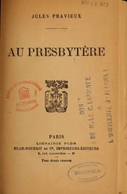 Cover of: Au presbytère
