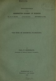 Cover of: ... The eyes of Rhineura floridana