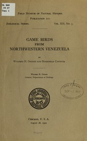 Cover of: Game birds from northwestern Venezuela...