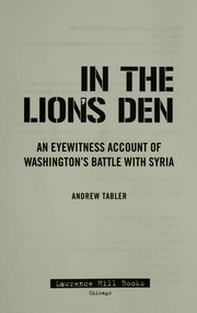 Cover of: In the lion's den | Andrew Tabler