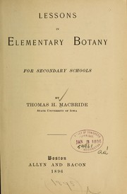 Cover of: Lessons in elementary botany for secondary schools