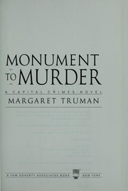 Cover of: Monument to murder