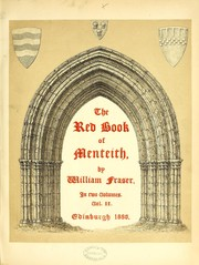 Cover of: The red book of Menteith. [With plates, including portraits, facsimiles and genealogical tables.] | Fraser, William Sir