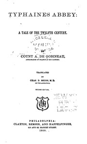 Cover of: Typhaines abbey: a tale of the twelfth century.