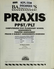 Cover of: Praxis: PPST/PLT