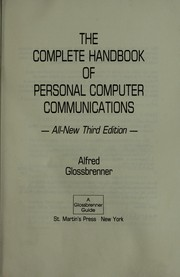 Cover of: The complete handbook of personal computer communications