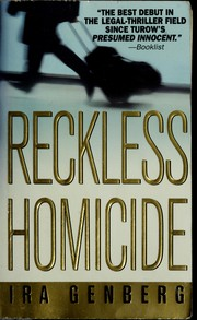 Cover of: Reckless homicide | Ira Genberg