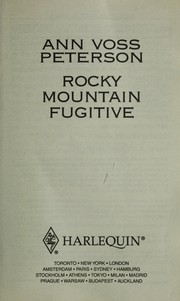 Cover of: Rocky Mountain Fugitive | Ann Voss Peterson