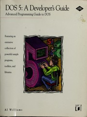 Cover of: DOS 5 : a developer