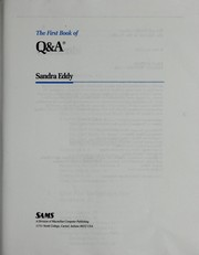 Cover of: The First Book of Q & A (First Book of)