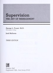 Cover of: Supervision | George L. Frunzi