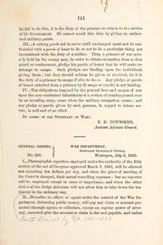 Cover of: General orders | United States. Adjutant-General