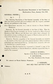 Cover of: General orders | United States. Army of the Cumberland
