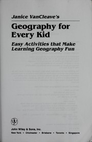 Cover of: Geography for every kid