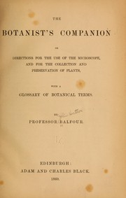 Cover of: The botanist's companion