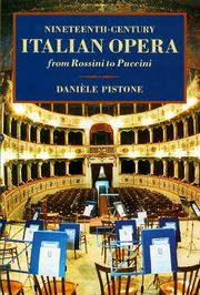 Cover of: Nineteenth-Century Italian Opera from Rossini to Puccini