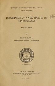 Cover of: Description of a new species of hippopotamus