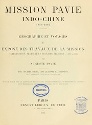 Cover of: Mission Pavie, Indo-Chine, 1879-1895