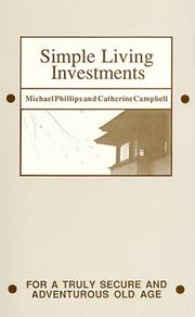 Cover of: Simple living investments