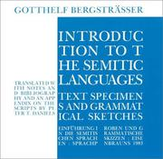 Cover of: Introduction to the Semitic Languages