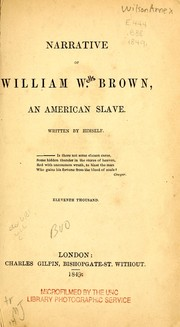 Cover of: Narrative of William W. Brown, an American slave