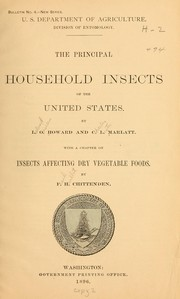 Cover of: Principal household insects of the United States...