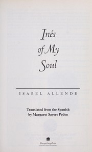 Cover of: Inés of my soul